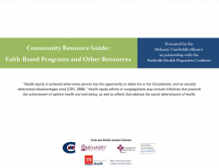 Community Resource Guide: Faith-Based Programs and Other Resources